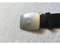 "Ralph Lauren Belt - 45"" Long - BLACK - 100% Genuine"