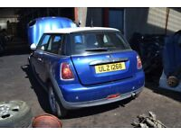 2007 MINI ONE 1.4 PETROL MANUAL BREAKING