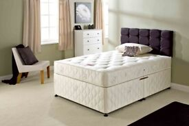 AMBASSADOR ORTHOPEDIC BED === Brand New Double Divan Bed Base With AMBASSADOR Orthopaedic Mattress