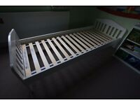 Mothercare Child Bed+mattress - in white