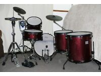 Jobeky Roland Electronic drum kit - Dark red sparkle 1 up 2 down Lovely! Custom options