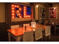 Experienced waiting staff wanted