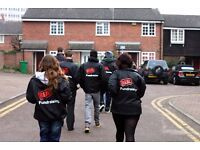 UK-Wide Door to Door Fundraising £252-306 basic p/w plus uncapped bonuses