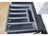 Slightly UsedGrey Plastic Kitchen Cutlery Tray