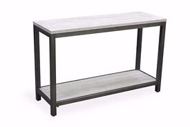 Rustic Industrial Console Table - Free Delivery