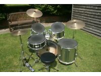 Pearl Export Drum Kit incl. all cymbals and hardware