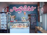 Events Manager at Ruby Violet Ice Cream Parlour, Kings Cross & Tufnell Park.