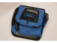 Large canvas pet carrier/cats/small-medium dogs, foldable when not in use