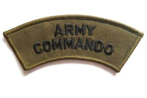 GENUINE ARMY COMMANDO CLOTH BADGE sew on olive GB special forces jacket patch