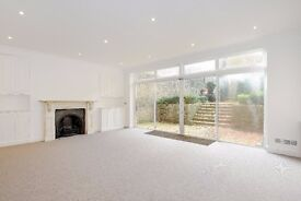 Harcourt Terrace SW10. Two double bedroom Victorian conversion garden flat to rent.