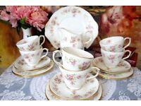 Duchess June Bouquet Bone China Trio Tea Set For 6 (20 pieces)