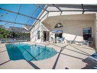 Florida Dec 2018 4 Bed,3.5 Bath,South Facing Pool,Digital Jukebox,Games Room