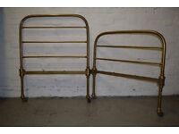 Maple & Co.Victorian brass bed ends (DELIVERY AVAILABLE)