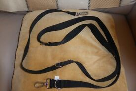 NEW Double Ended Black Dog Lead For Use With Harness / Head Collar or as Adjustable Lead, Histon