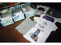BUSINESS OPPORTUNITY - Collection of mens screen-printed t-shirts for sale!!