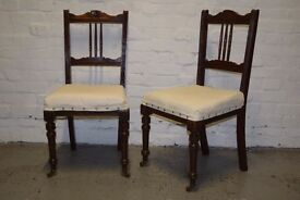 Pair of victorian chairs - (DELIVERY AVAILABLE)