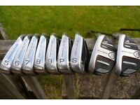 Hybrid Set of clubs for sale with bag & trolley etc