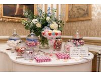 Decorative Glass Storage Jar Candy Buffet Table Decoration 30cm for any occasions i.e. weddings