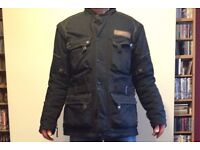 Triumph black Textile Motorcycle Jacket with removable liner
