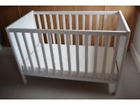 Ikea Sundvik cot, 120 x 70, White. Mattress included.
