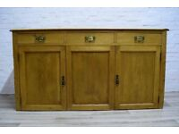 Victorian Stripped Pine Sideboard (DELIVERY AVAILABLE)