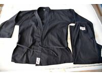 FOR FREE Karate Kyokushin Suit Black for Adult