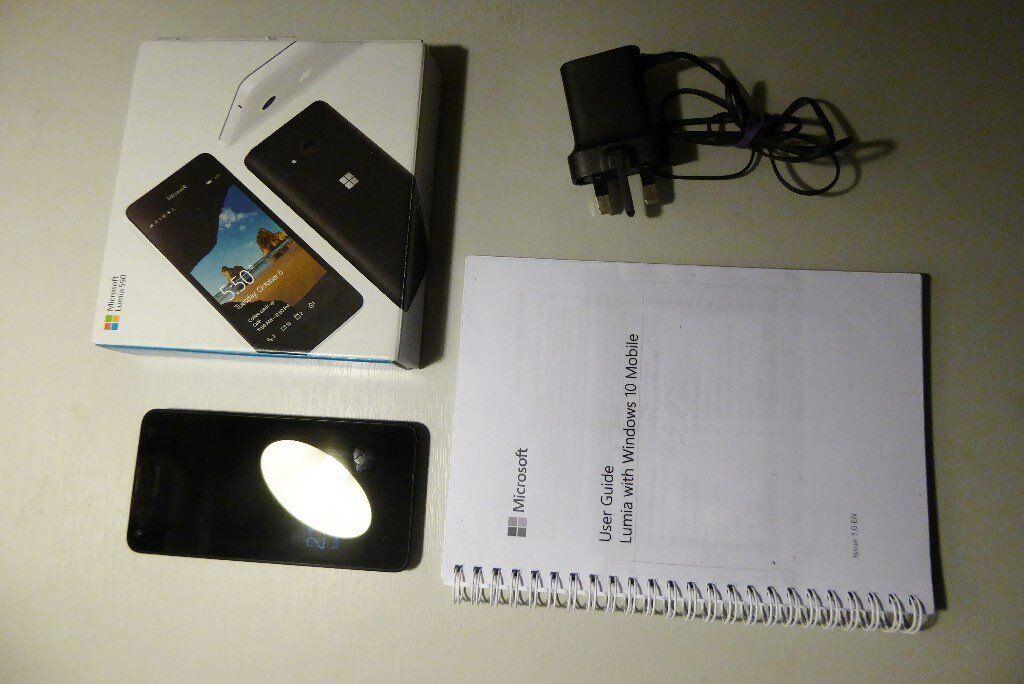 Bargain Microsoft Lumia 550 Mobile Phone with Windows 10 and Microsoft User Guide