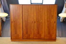 Teak Danish 4 Door Wardrobe, Retro, Vintage, 1960s TM Line