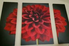 Large red & black wall canvas
