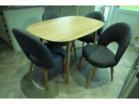 Dining Table (W 85cm x L 129cm x H 76cm) & 4 Chairs - Superb Condition! £550.00 ONO considered