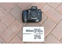 NIKON F4 BODY with MB21 HIGH SPEED BATTERY GRIP
