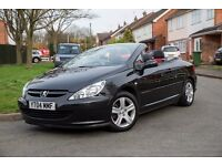 2004 PEUGEOT 307CC CONVERTIBLE BLACK JUST 82,000 MILES FULL SERVICE HISTORY AND MOT TIL OCT 2017