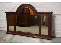 Mahogany triple glazed mirror (DELIVERY AVAILABLE)