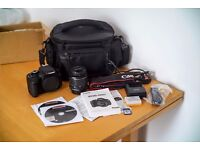 Canon 600D with 16GB SD Card and Camera Bag