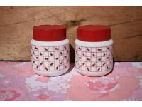 Pyrex Arcopal Milk Glass Storage Jars retro vintage