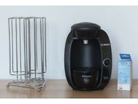 Bosch Tassimo Coffee Machine With Pod Rack and Descaling Tablets