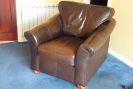 Leather armchair (Marks & Spencer)