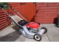 honda hr 194 easy start petrol mower self drive rotary