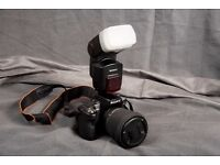 Sony HVL-F58AM Flashgun for Sony Alpha Series Digital Cameras w Stand, Case and Diffuser Used