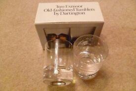 2 Exmoor tumblers by Dartington glass