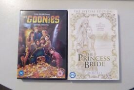 Cult Classic DVDs - Princess Bride and The Goonies