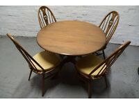 Ercol golden dawn table with 4 chairs (DELIVERY AVAILABLE)