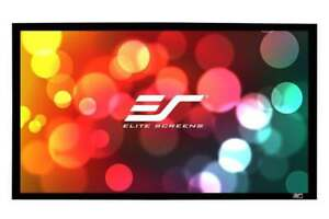 "NEW Elite Screens Sable Frame B2, 110"" 16:9, Active 3D / 4K Ultra HD Fixed Frame Home projector screen"