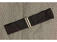 Black Cotton Belt Elastic Back