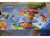 winnie the pooh tip and topple game