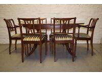 Strongbow extending dining table with 6 chairs (DELIVERY AVAILABLE)