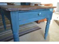 DINING TABLE-OLD PINE- REFURBISHED