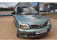 2002/52 NISSAN MICRA 1.0 S GENUINE 35,000 MILES FSH HPI CLEAR