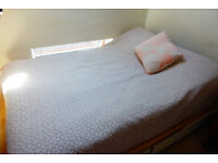 Pink bedspread from Futon Company
