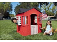 *** Little Tikes Country Cape Cottage outdoor large plastic play house in Excellent condition! ***